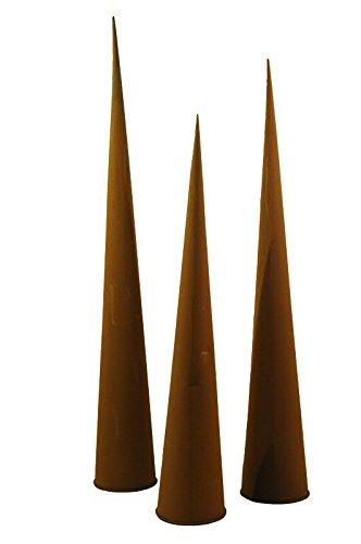 Große Spitztüte / Rosttüte - 1 Stück - Material: Edelrost - Durchmesser 12cm / Höhe 89cm