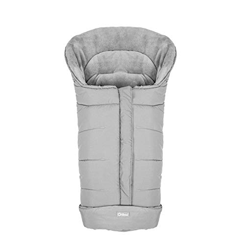 Warm Bunting Bag Universal,Stroller Sleeping Bag Cold Weather,Waterproof Toddler Footmuff (Light Grey, Large)