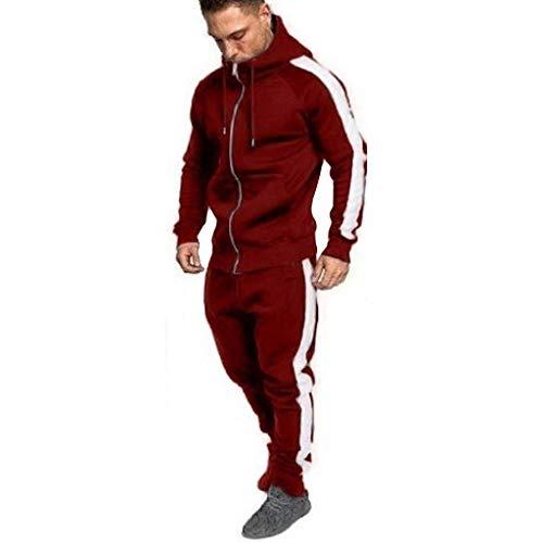 Ears Herren Herbst Winter Trainingsanzug Zipper Print Sweatshirt Top Hose Sets Sport Anzug Langarm Pullover Casual Mantel Freizeit Sweatjacke Retro Strickjacke Rundhals Sweatpullover