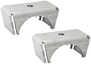 """Ruffstuff Specialties Universal Leaf Spring Perch Pads for Axle Housing (Spring Under 3"""" Tube)"""