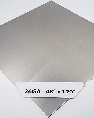 304 Stainless Steel Sheet Metal 26GA - 48