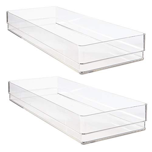 STORi Clear Plastic Drawer Organizers 15' x 6' x 2' | Set of 2