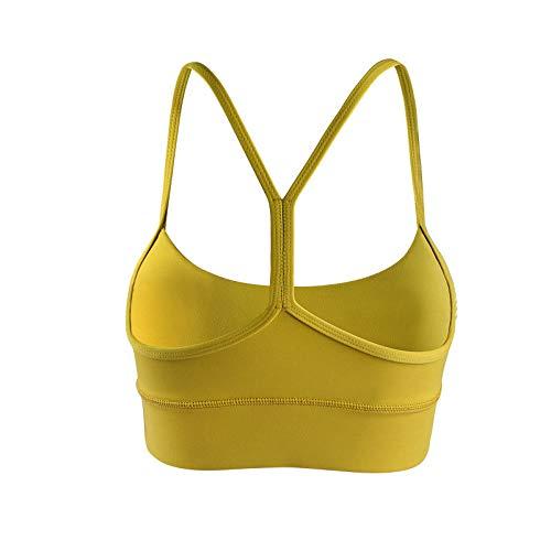 Cwang Sujetador de Cobertura Total para Mujer sin Postura de Soporte de Espalda con Anillo de Acero,Amarillo,M