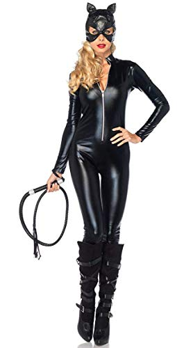 Disfraz de Catwoman Catwoman Negro - Mujer niña - Sexy - Disfraz - Carnaval - Halloween - Cosplay - Accesorios - Color Negro - Talla l