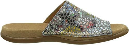 Gabor Shoes Damen Fashion Pantoletten, Grau (Stone 49), 39 EU