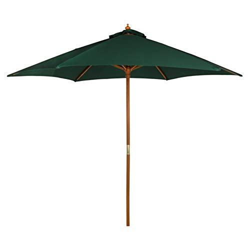 Aktive - Parasol hexagonal Garden diámetro 270 cm - Mástil de madera 38 mm - Color verde (ColorBaby 53862)