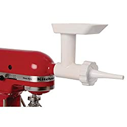 kitchenaid stand mixer with sausage stuffer kit attachment