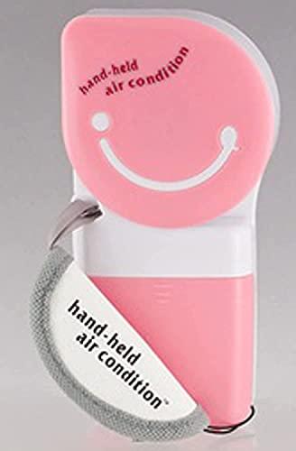 WSZYBAY Aire Acondicionado Ventilador de Mano Fan de refrigerador portátil de Aire Fresco al Aire Libre/de Uso Interior (Rosa) / CQBQDEFSS 17 (Color: Rosa) (Color : Pink)