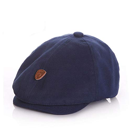 Anshili, Gatsby, Kinder-Mütze aus Baumwolle., blau, 0 Monate