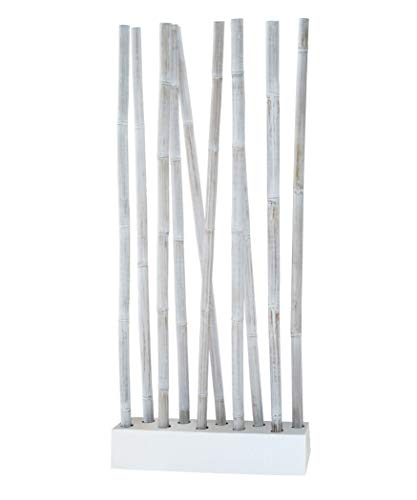 LioLiving®, Raumteiler aus Bambus (Weiss/Weiss) - über 2 Meter hoch! (#400105)