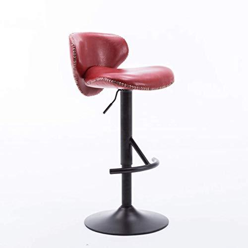 YLCJ barkruk stoel lift hoge voeten kruk barstoel draaien kassa reception keuken ontbijt barkruk (kleur: rood) rood