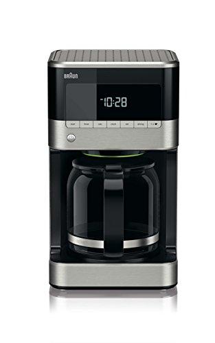 Braun KF 7120Cafetera eléctrica semi-automática con jarra de cristal, 1000 W, 12 tazas, acero...