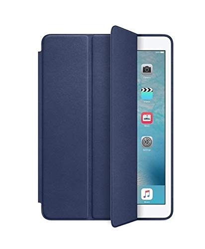 Smart Case Com Função Sleep Novo Ipad 2017 De 9.7 A1822 A1823- Azul Marinho