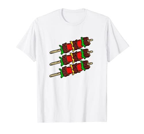 Brochetas de carne a la barbacoa Restaurante Comida Foodies Camiseta