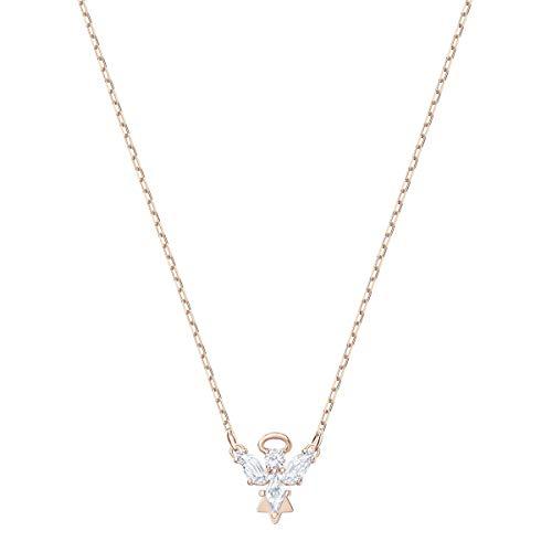 Swarovski Magic Angel Halskette für Frauen, weißes Kristall, rotgold glänzendes Finish