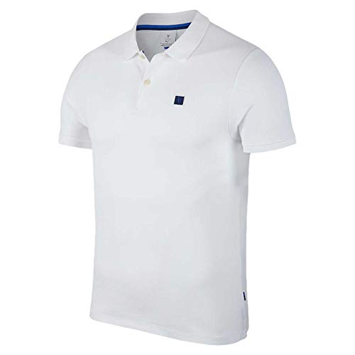 Nike Herren Polo Shirt RF M NKCT Essential, White, S, AH6762