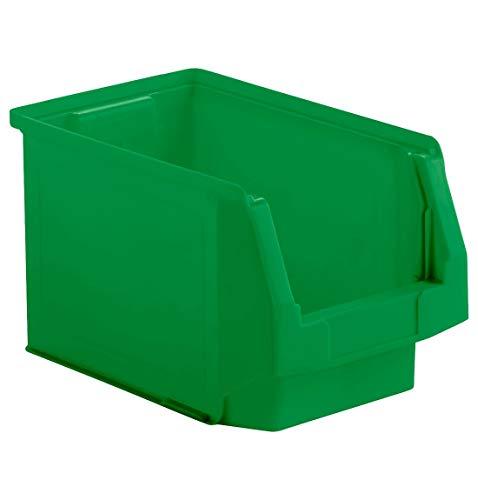 SSI Schäfer Kunststoffbox Sortierbox Stapelbox LF 322, Aufbewahrung, Made in Germany, Polypropylen (PP), L 343 x B 209 x H 200 mm, 10,4 l, Grün