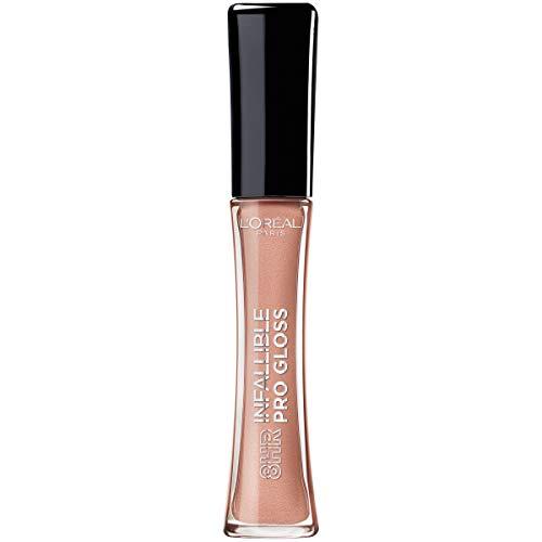 L'Oreal Paris Makeup Infallible 8 Hour Hydrating Lip Gloss, Nude Petal, 0.5 Ounce