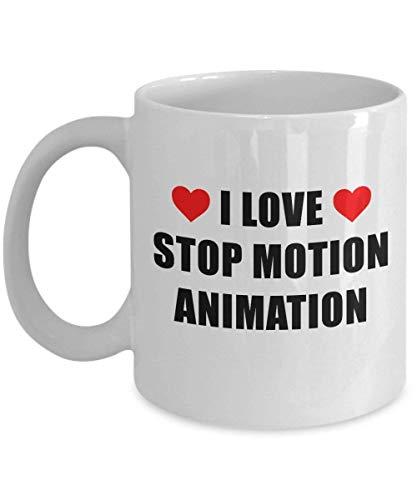 Fgrygf I Love Stop Motion Animation Mug Acrylic Coffee Holder White 11oz Nice Giftfor Hobbyist, Enthusiast Film Maker