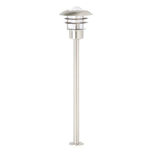 Brilliant Terrence - Lámpara de pie para exteriores (acero inoxidable)