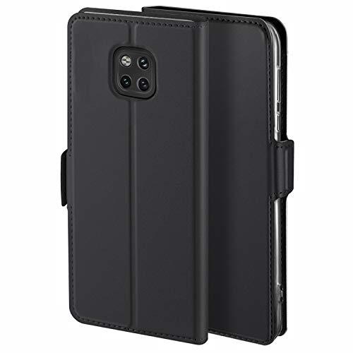 YATWIN Handyhülle für Huawei Mate 20 Pro Hülle Leder Premium Tasche Hülle für Huawei Mate 20 Pro, Schutzhüllen aus Klappetui mit Kreditkartenhaltern, Ständer, Magnetverschluss, Schwarz