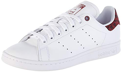 adidas Womens Stan Smith Sneaker, Cloud White/Collegiate Burgundy/Cloud White, 36 EU