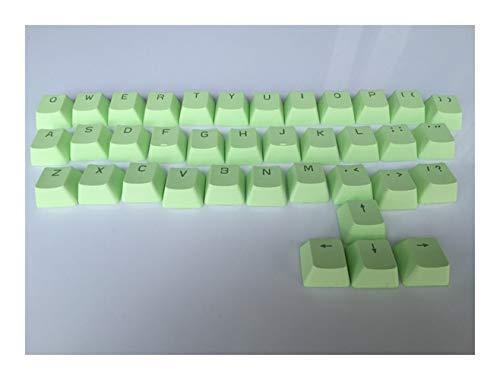 YEZIO Keycaps für Keyboards Keycaps Beleuchtung PBT 37 Tasten Plus Kirsche Muster ESC Keys Double Shot translucidus Keycaps for mechanische Tastatur Universal (Color : Blue)