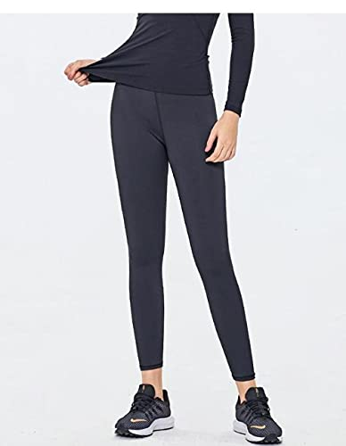 ArcherWlh Leggings Push Up Vita Alta Palestra,Pantaloni da Yoga ad Alta Vita Leggings Yoga per Ascensore per Culo per Le Donne-Nero_S