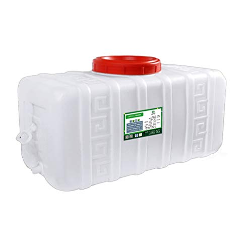 MORN Large Capacity Water Storage Tank,Large Capacity Bucket Horizontal Square Water Storage,BPA Free,White Food-grade Water Storage Container with Lid and Handle