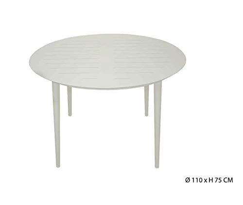 PEGANE Table Ronde en Aluminium Coloris Sable - D.110 X H75 cm