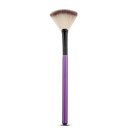 Oyfel Eventail Pinceau de Maquillage Cosmétique Fan Pinceaux de Maquillage pour Poudre Blending Highlighter Contour Nylon