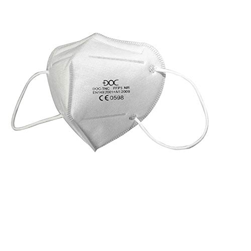 DOC 10x FFP3 MASKE (Einzeln verpackt) EN 149:2001 + A1:2009 Zertifiziertes,MASKE Atemschutzmasken FFP3,Höchste Filterklasse 99% Filter - ohne Ventil