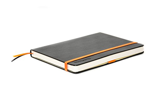 WORKNOTES Notizbuch a5 kariert - Das Notizbuch für Kreative und Macher von Workflo, 192 perforierte Seiten, Hardcover, schwarz