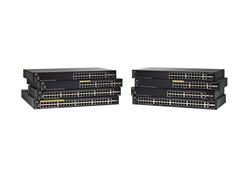 Cisco SG550X-24P Stackable Managed Switch with 24 Gigabit Ethernet (GbE) Ports, 195W PoE, 2 x 10G Combo, 2 x SFP+, L3 Dyamic Routing, Limited Lifetime Protection (SG550X-24P-K9-NA)