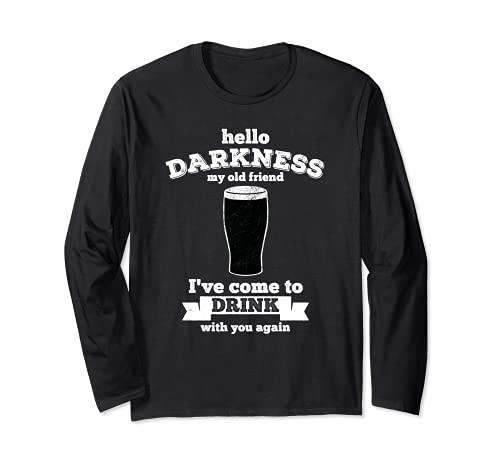 Hello Darkness My Old Friend - Bevanda amante della birra Maglia a Manica