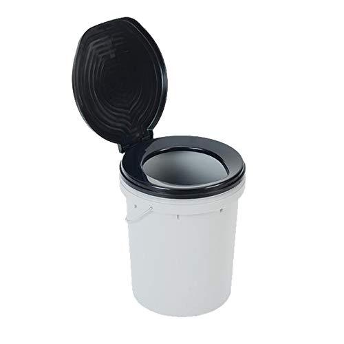 OZtrail Cubo Water para Camping, baño portatil, Ready Restroom Toilet Bucket Capacidad 20L con Tapa FCM-PTRR-B