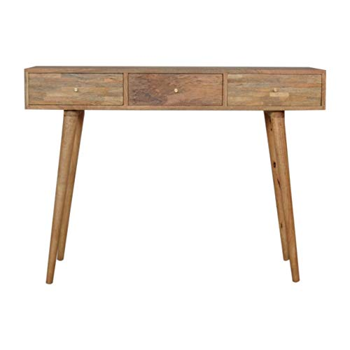 Artisan Furniture Patchwork Patterned Console Table Escritorio, Madera, Roble-ish, Talla única