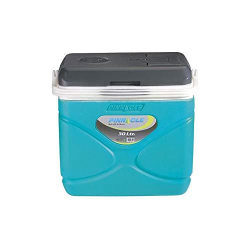 Pinnacle Nevera portátil eléctrica 30 litros, frío/Calor. 12/220 v Mini, Camping-Deportes, Azul Celeste, 49x32x44 cm