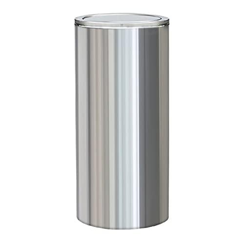 Cubos de Basura Lata de basura al aire libre, latas de desechos de swing-superior, capacidad de basura de 24 pulgadas para uso en interiores, exteriores o comerciales, acero inoxidable bote de basura