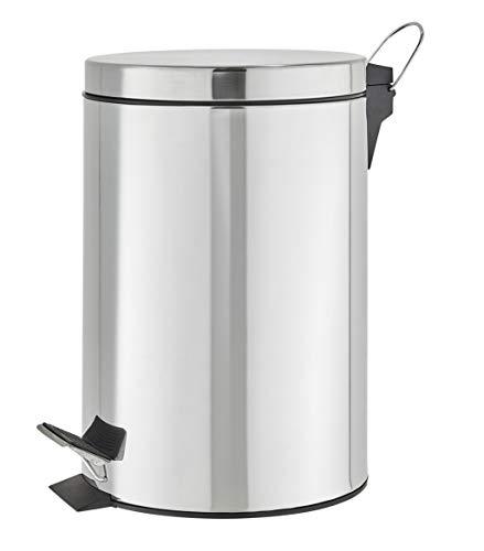 KHG Mülleimer mit Tretfunktion großer Abfallbehälter 12l für Küche