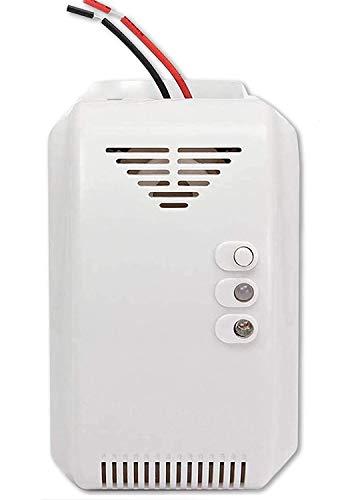 RV Propane   Natural Gas Detector, Gas Leak Detection, Home Gas Alarm, High Sensitivity LPG LNG Coal Natural Gas Leak Detection, Alarm Monitor Sensor for Motorhome   Camper   Marine (12V) (Grey)