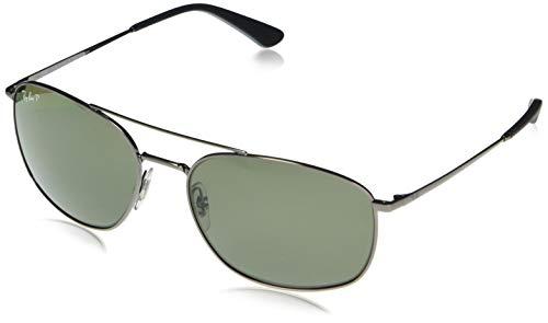 Ray-Ban RB3654-004/9A Gafas de sol, Gunmetal, 60 Unisex