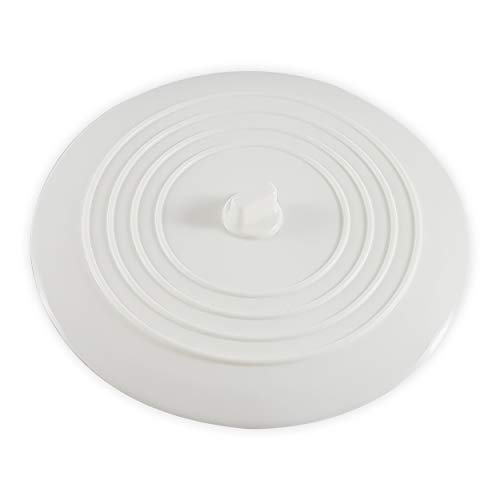 CZ Store Silikon-Abflussstopfen | 15 cm |✮LEBENSLANGE GARANTIE✮- Flexibel & wasserdicht - Universal-Abdeckung für Edelstahl-Küchenspüle, Keramik-Badewanne, Toilette, Waschbecken, Dusche – Weiß