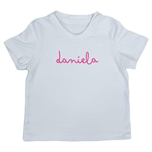 nenel - Camisetas Personalizadas - Camiseta Unisex Infantil Personalizada con Nombre Bordado - Talla 10 años - Personalizar Camisetas - Camiseta de Algodón Orgánico - Camiseta Blanca
