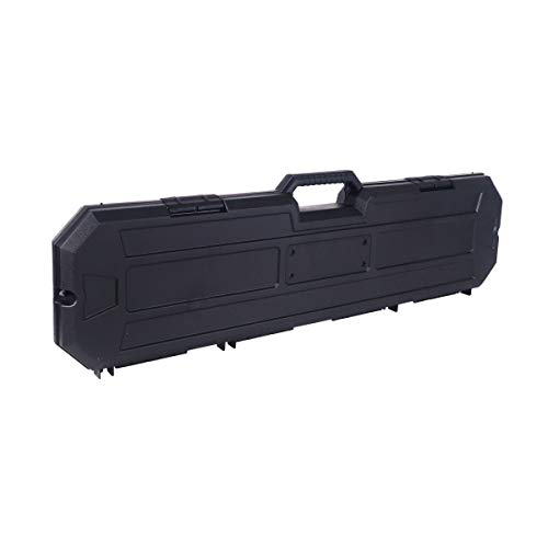 """Condition 1 40"""" Single Scope Hard Plastic Rifle Case with Foam, Black - Scratch and Water Resistant - Made in USA - 39.52"""" x 8.20"""" x 2.62"""""""