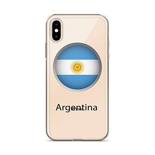 blitzversand Cassa del Telefono Welt FLAGGEN Bandiere del Mondo Compatibile per Huawei P8 Lite Bandiera dell'Argentina Motivo Disegno Ultra-Slim Sottile Silicone Cellulare Protettiva Cover M2