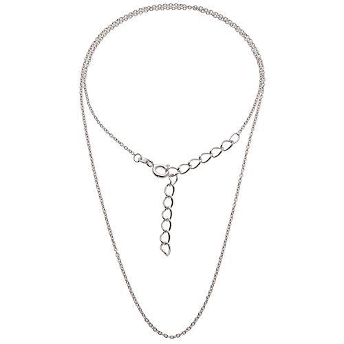 Schmuck-Pur 925/- Silber Halskette Ankerkette 1,50 mm rhodiniert Länge von 40 bis 45 cm einstellbar