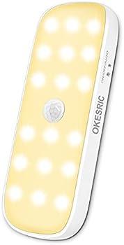 Okesric 18 LED Warm White USB Rechargeable Closet Lights