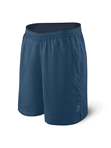 Saxx Men's Athletic Shorts – Kinetic 2N1 Train Shorts - Men's Workout, Running and Training Shorts – Breathable Lined Active Shorts with Pockets,Blue Velvet,XX-Large