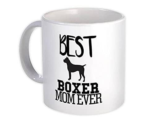 La migliore mamma pugile di sempre : Regalo Tazza : Proprietario del fumetto di cane sagoma divertente animale domestico